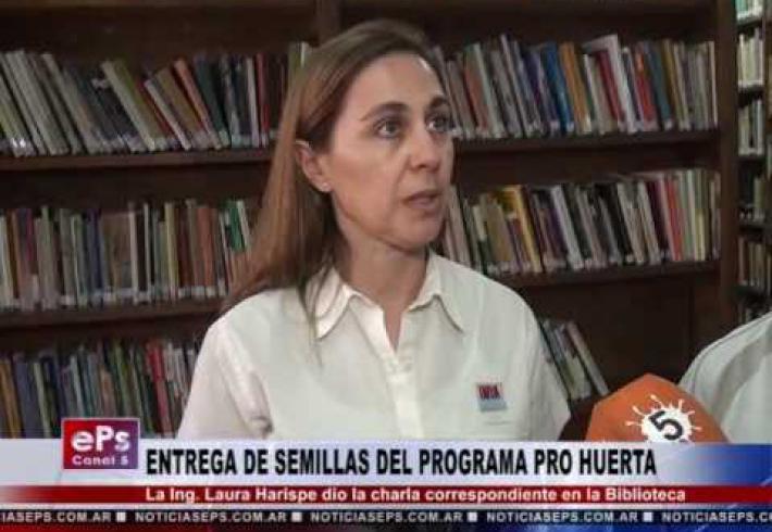 Embedded thumbnail for EL PROGRAMA PRO-HUERTA ENTREGA SEMILLAS EN LA BIBLIO
